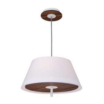 текстилен полилей, dark wood shade+white, aca lighting, textile, 3x40w, zm16403pdw