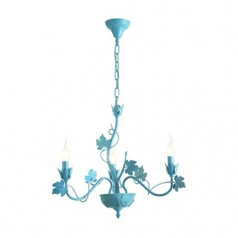 метален полилей, matt blue, aca lighting, elegant, 3x40w, eg170603pb
