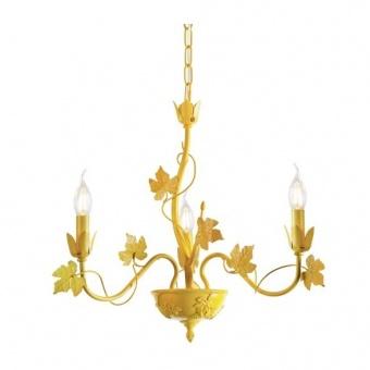 метален полилей, matt yellow, aca lighting, elegant, 3x40w, eg170603py