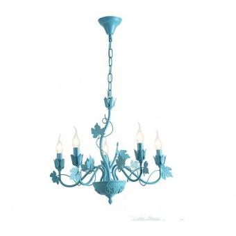 метален полилей, matt blue, aca lighting, elegant, 5x40w, eg170605pb