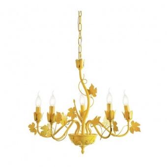 метален полилей, matt yellow, aca lighting, elegant, 5x40w, eg170605py