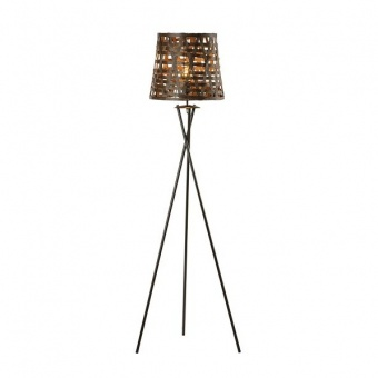 метален лампион, brown, aca lighting, primary, 1x40w, ml307211fb