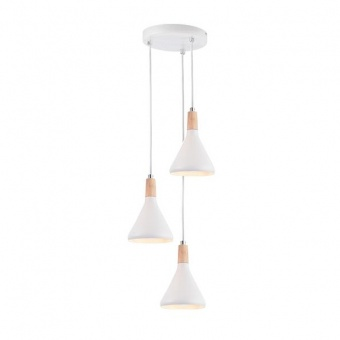 метален полилей, matt white+natural, aca lighting, primary, 3x40w, gn283pwh