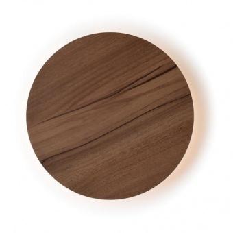 pvc аплик, dark wood shade, aca lighting, wall&ceiling luminaires, led 5w, 3000k, 400lm, zm1705ledwdw