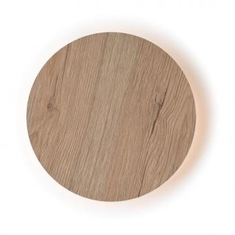 pvc аплик, light wood shade, aca lighting, wall&ceiling luminaires, led 5w, 3000k, 400lm, zm1705ledwlw