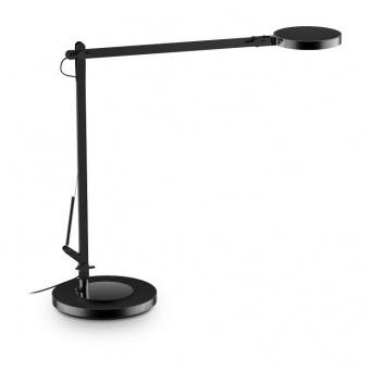 метална работна лампа, nero, ideal lux, futura tl1, led 10w, 4000k, 600lm, 204888