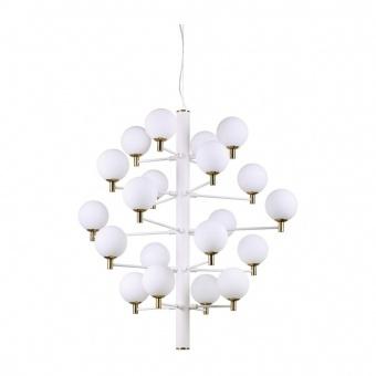 стъклен полилей, bianco, ideal lux, copernico sp20, 20x40w, 197326