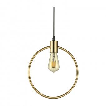 метален пендел, ottone, ideal lux, abc sp1 round, 1x70w, 207841