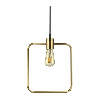метален пендел, ottone, ideal lux, abc sp1 square, 1x70w, 207858