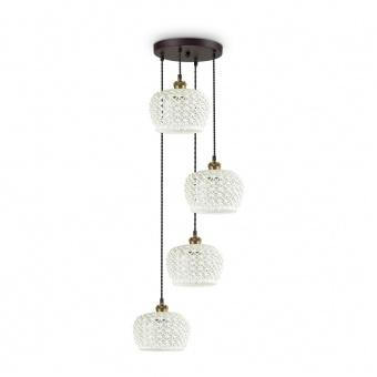 керамичен полилей, bianco, ideal lux, edelweiss sp4, 4x60w,  206790