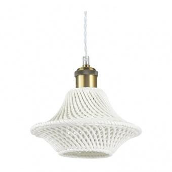 керамичен пендел, bianco, ideal lux, lugano sp1 d23, 1x60w, 206806