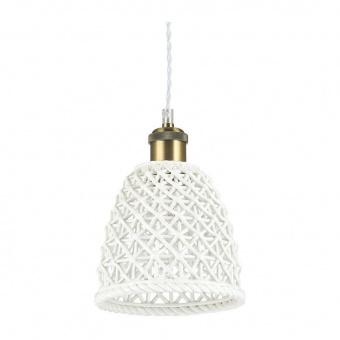 керамичен пендел, bianco, ideal lux, lugano sp1 d18, 1x60w, 206820