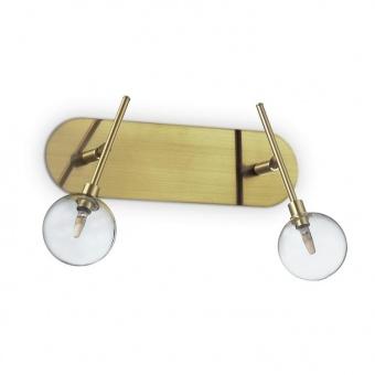 метален спот, ottone, ideal lux, maracas pl2, 2x2w, 200347