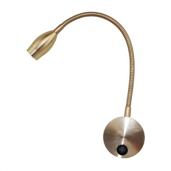 метален аплик, satin dark gold, aca lighting, wall&ceiling luminaires, led 3w, 3000k, 210lm, sf126bled330g