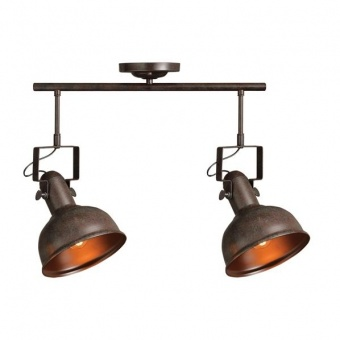 метален спот, rust+dark brown, aca lighting, spot luminaires, 2x40w, eg167072cr