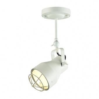 метален спот, matt white+silver, aca lighting, spot luminaires, 1x40w, eg169901cw