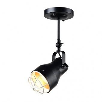 метален спот, matt black+matt white, aca lighting, spot luminaires, 1x40w, eg169901cb