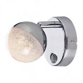 метален спот, chrome+transparent crystallize, aca lighting, spot luminaires, led 4w, 3000k, 250lm, mc3001ledc