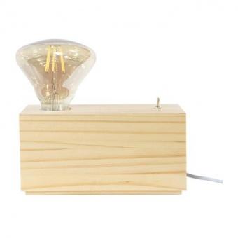 настолна лампа от дърво, natural, aca lighting, floor&table&office luminaires, 1x40w, tf17191tn