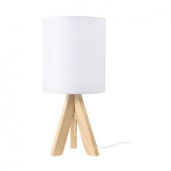 текстилна настолна лампа, white+natural, aca lighting, floor&table&office luminaires, 1x40w, tf176721twh