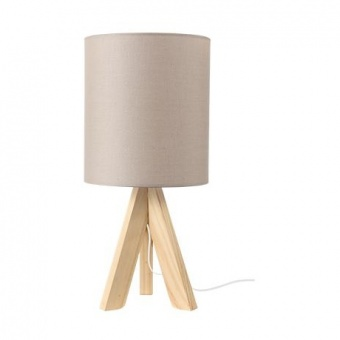 текстилна настолна лампа, pale brown+natural, aca lighting, floor&table&office luminaires, 1x40w, tf176721tlb