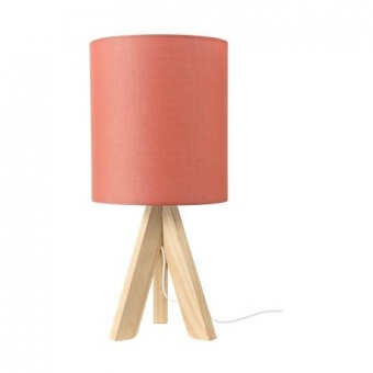 текстилна настолна лампа, coral+natural, aca lighting, floor&table&office luminaires, 1x40w, tf176721tek