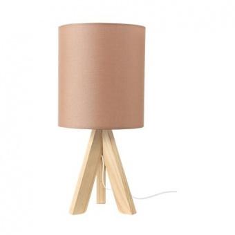 текстилна настолна лампа, brown+natural, aca lighting, floor&table&office luminaires, 1x40w, tf176721tmu