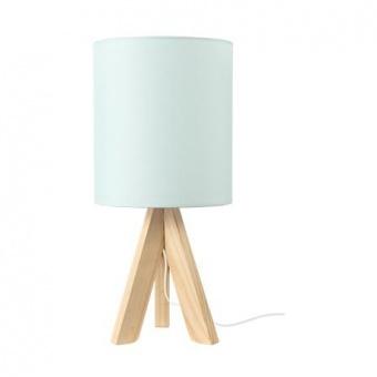 текстилна настолна лампа, pale mint+natural, aca lighting, floor&table&office luminaires, 1x40w, tf176721tpm