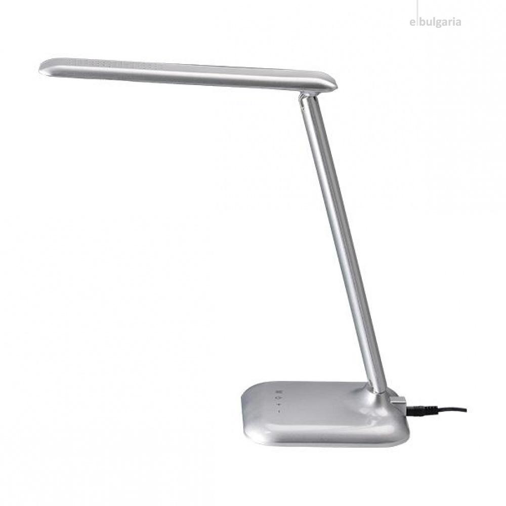 pvc работна лампа, silver paint, aca lighting, floor&table&office luminaires, led 6w, 3000k-6000k, 480lm, sf1408led640s