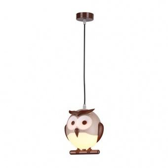pvc пендел, brown+white, aca lighting, bambini luminaires, 1x13w, zn160201pbr