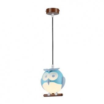 pvc пендел, blue+white+brown, aca lighting, bambini luminaires, 1x13w, zn160201pbl