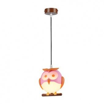 pvc пендел, pink+orange+white+brown, aca lighting, bambini luminaires, 1x13w, zn160201pp
