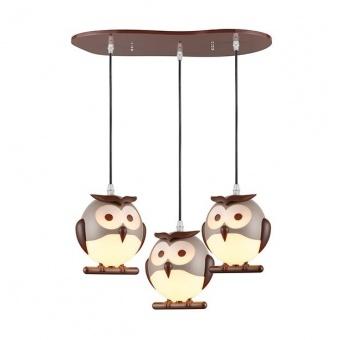 pvc полилей, brown+white, aca lighting, bambini luminaires, 3x13w, zn160203pbr