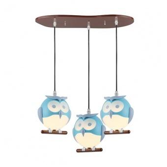 pvc полилей, blue+white+brown, aca lighting, bambini luminaires, 3x13w, zn160203pbl