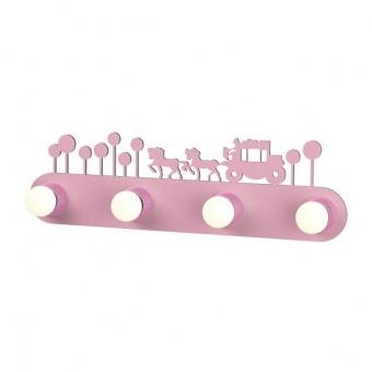 pvc аплик, pink, aca lighting, bambini luminaires, 4x40w, zn170114wp