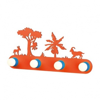 pvc аплик, orange+blue, aca lighting, bambini luminaires, 4x40w, zn170114wo