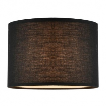 текстилен абажур, black, aca lighting, 1x40w, за фасунга е27, crl35b