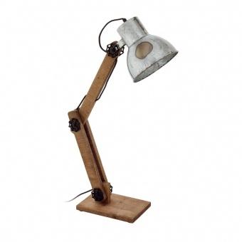 работна лампа, zinc, eglo, frizington, 1x40w, 43068