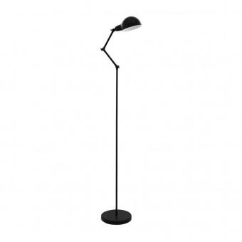 метален лампион, black, eglo, exmoor, 1x60w, 49042