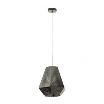 метален пендел, nickel-nero, eglo, chiavica, 1x28w, 43223