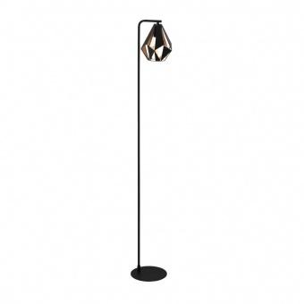 метален лампион, black/copper-antique, eglo, carlton 4, 1x60w, 43059