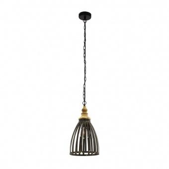 метален пендел, black, eglo, oldcatle, 1x60w, 49786
