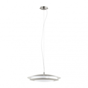 стъклен пендел, satin nickel, eglo, moneva-c, led 27w, 2700-6500k, 3400lm, 98044