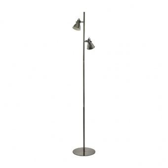 метален лампион, nickel-antique, eglo, taschin, 2x3.3w, 3000k, 2x240lm, 98569
