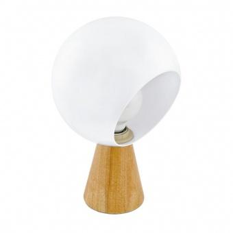 метална настолна лампа, white, eglo, mamblas, 1x60w, 98278