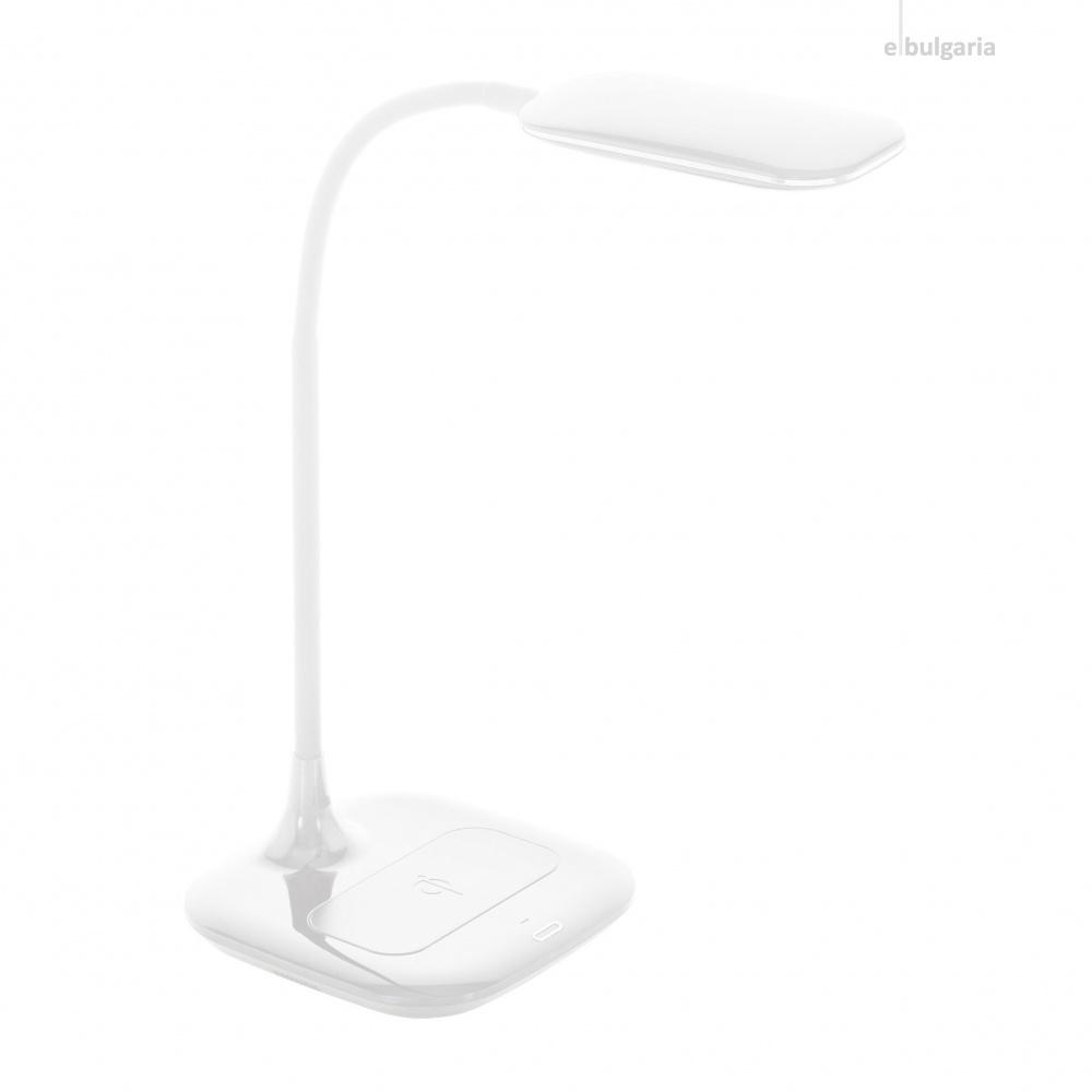 pvc работна лампа, white, eglo, masserie, led 3.4w, 4000k, 470lm, 98247