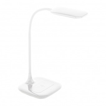 pvc работна лампа, white, eglo, masserie, led 3.4w, 4000k, 470lm, 98247