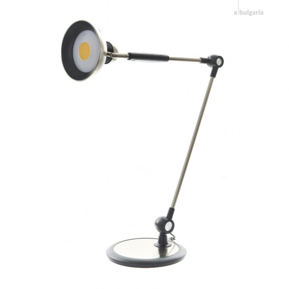метална работна лампа, хром, elbulgaria, led 10w, 3000k-4000k-6000k, 1991