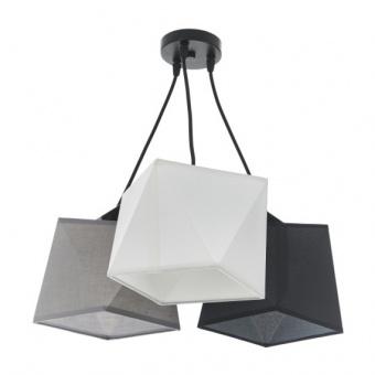 текстилен полилей, черен, elbulgaria, 3x40w, 2091b/3