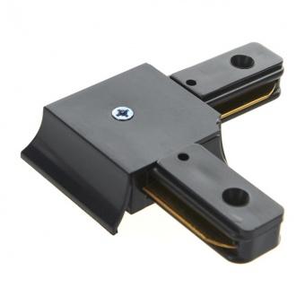 l-конектор, за монофазна трак шина за външен монтаж, черен, elbulgaria, 2086 bk